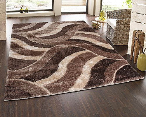 Casa Regina Shaggy Collection Beige Contemporary Abstract