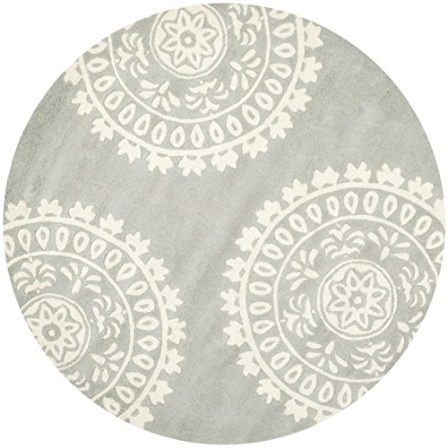 safavieh bella collection bela handmade grey and ivory wool, round area rugs amazon, round area rugs canada, round area rugs cheap