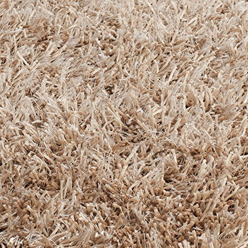 Safavieh New Orleans Shag Collection SG531 1313 Handmade Beige And Beige Shag  Area Rug, 8 Feet By 10 Feet (8u2032 X 10u2032)