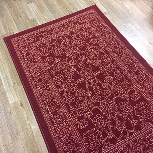 Rubber back non slip 3 39 4 x 5 fancy egyptian print for Traditional kitchen rugs
