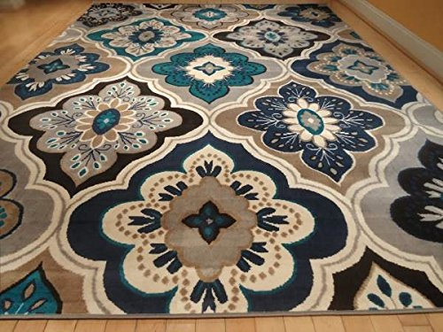 New Modern Blue Gray Brown 8 215 11 Rug Area Rug Casual 8 215 10