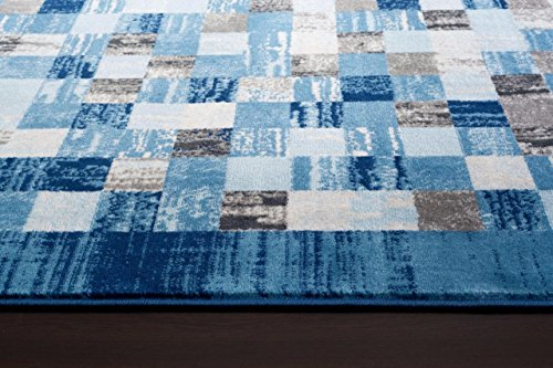 Nice 2400 Blue 5u00272×7u00272 Area Rug Modern Carpet Large New