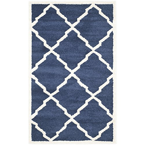 Safavieh Amherst Collection Amt421p Navy And Beige Indoor