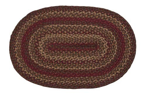 Cinnamon Oval Braided Rug 20 X30 Area Rugs Shop