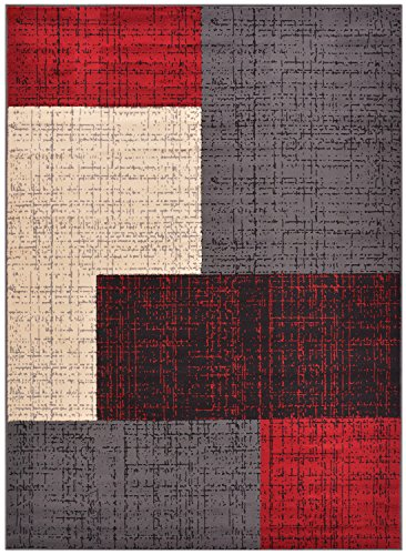 Grey area rugs shop part 2 for Red area rugs contemporary