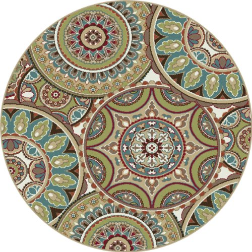 Universal Rugs 1018 Deco Round Transitional Area Rug 5
