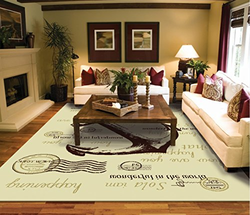 Modern cream 8 10 rug for living room cream nyc anchor for Living room rugs 8 by 10