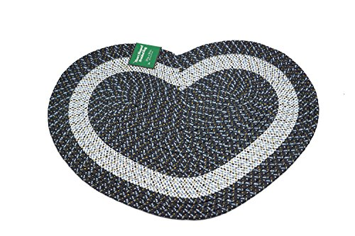 Emerald Wholesale Heart Shaped Braided Rug 20 X 30