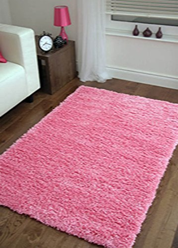super soft modern shag area rugs living room carpet bedroom rug for children play solid home decorator floor rug and carpets 4 feet by 5 feet pink