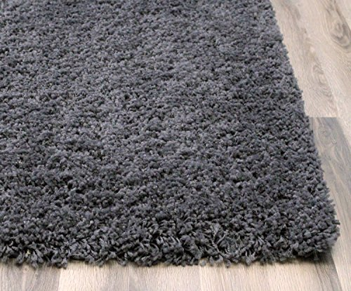 charcoal gray shag rug 5feet x 8feet soft u0026 thick textured stain resistant pile