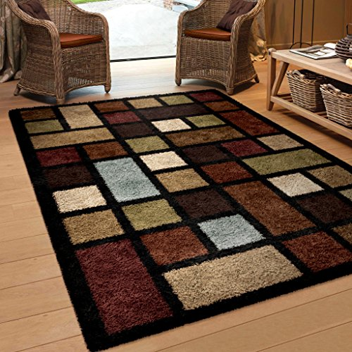 Orian Rugs Geometric Color Grid Multi Area Rug 5 3 X 7 6