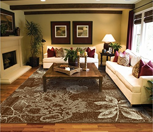 New Large 8x11 Rugs For Living Room Brown Tree Leaf Art 8x10 Modern Contemporary Dining