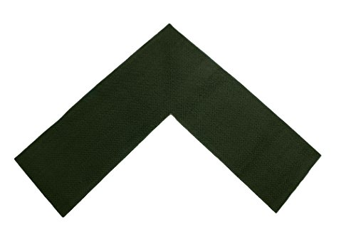 Emerald Wholesale Perfect For Kitchen, Shop And Garage Solid Corner Rug, 68  By 68 By 24u2033, Green