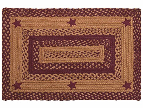 Ihf Home Decor Star Wine Design Braided Rectangular Rugs