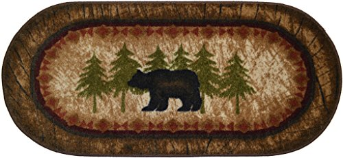 Cozy Cabin Birch Bear 20 X44 Nonskid Non Slip Cute