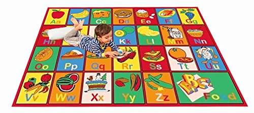 Kids Rug Abc Fruit And Food Area Rug 5 Ft X 7 Ft Area