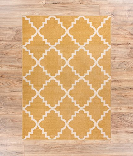 Modern Casual Area Rug 3x5 33 X 47 Easy To Clean Stain Fade Resistant Shed Free Contemporary Traditional Moroccan Lattice Living Dining Room