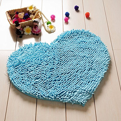 Hughapy 174 Super Soft Lovely Heart Love Shaped Area Rug Anti