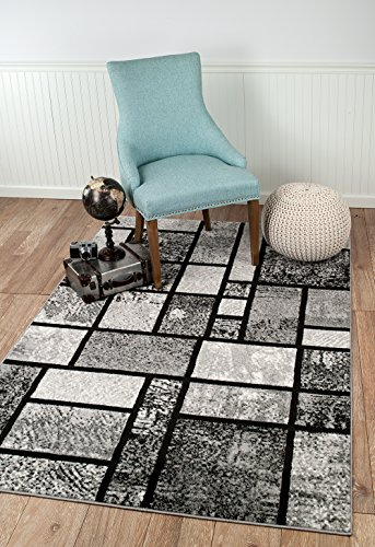 Summit 40 New Grey Geometric Area Rug Modern Abstract Many Sizes Available 2 3 7 4 6 5 8 10 X