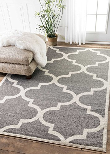 contemporary moroccan trellis geometric grey area rugs 4 feet by
