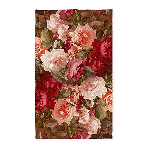 Cafepress Floral Pink Roses 3 X5 Decorative Area Rug