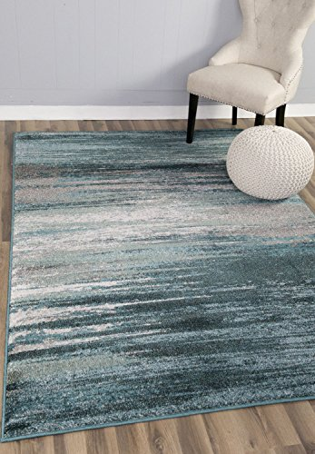 Teal Amp Gray Rug Modern Contemporary 5 3 X 7 7 5 215 8