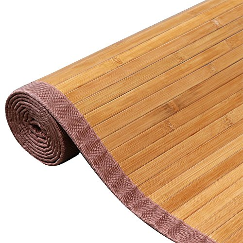 Yaheetech Bamboo Area Rug Carpet 5 X 8 4 6 Brown Natural Wood Floor Mat Ft
