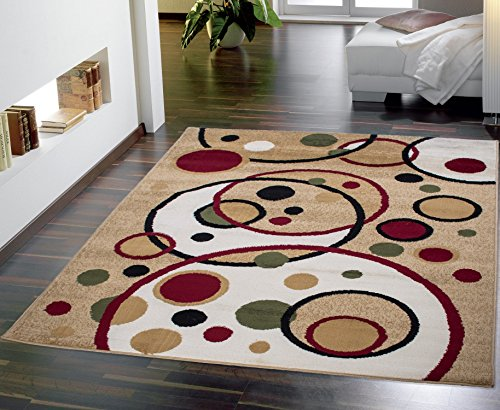 Ottomanson Contemporary Balloons Design Area Rug 8 Feet 2