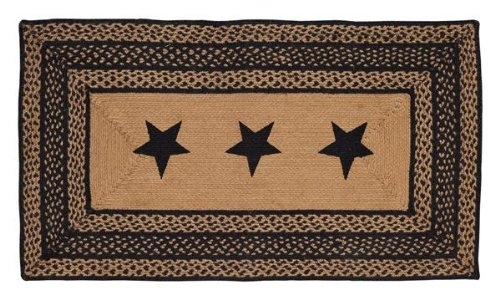 Vhc Brands Farmhouse Stencil Stars Braided Area Rug Area