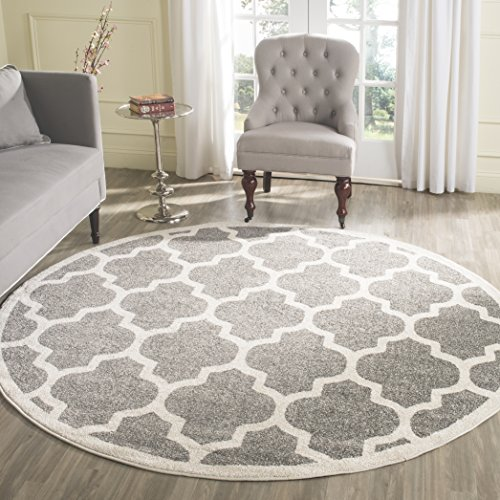 Safavieh Amherst Collection Amt420r Dark Grey And Beige
