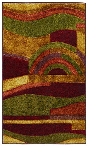Mohawk Home New Wave Picasso Printed Rug 2 6 215 3 10 Wine