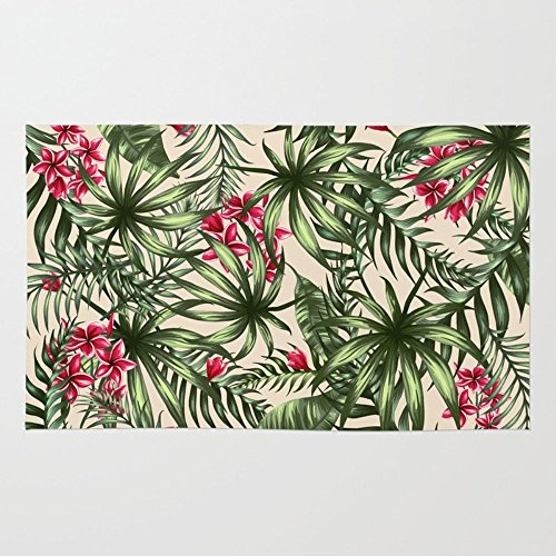 Society6 Tropical Leave Pattern 9 4 Rug 4 X 6 Area