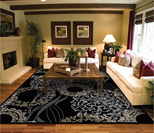 luxutry modern rugs for living dining room black cream beige rug large 811 rugs 810 area rugs clearance