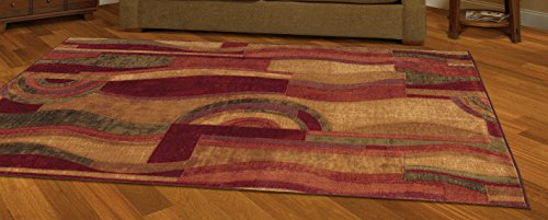mohawk home new wave picasso wine rug - Mohawk Area Rugs
