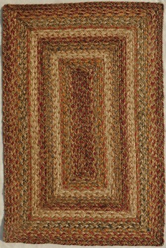Homespice Decor Braided Rectangle Area Rug 4 X6 Beige Red