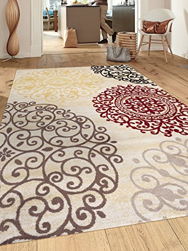 Rugshop Contemporary Modern Floral Indoor Soft Area Rug 5