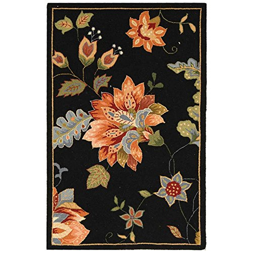 Safavieh Chelsea Collection Hk306b Hand Hooked Black Premium Wool Area Rug 2 6 X 4