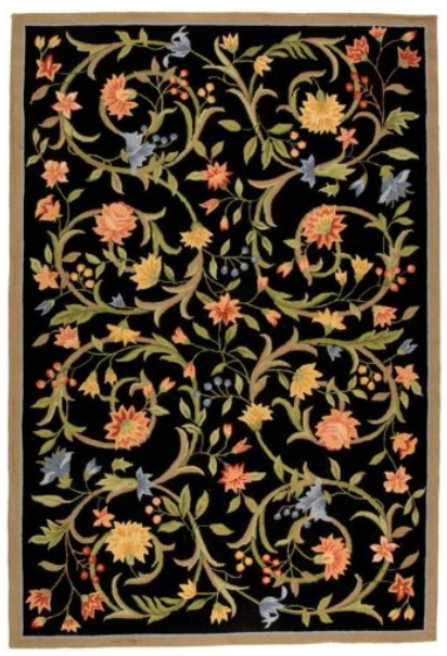 Safavieh Chelsea Collection HK248B Hand-Hooked Black Premium Wool Area Rug