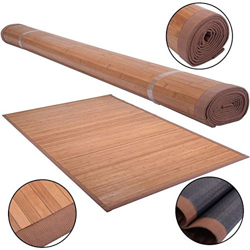 New 5 X 8 Bamboo Floor Mat Rug Carpet Natural Bamboo