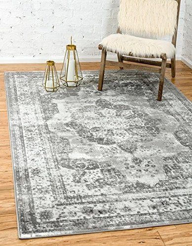 Unique Loom Sofia Collection Gray 5 X 8 Area Rug 5 X 8