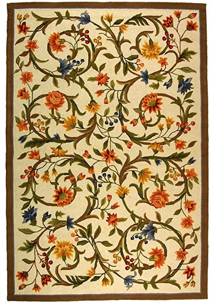 Safavieh Chelsea Collection Hk248a Hand Hooked Ivory Premium Wool Area Rug 1 8 X 2 6