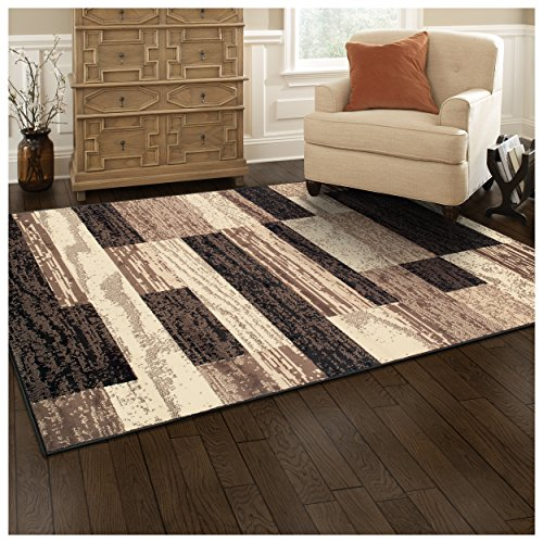 Superior Modern Rockwood Collection Area Rug 8mm Pile