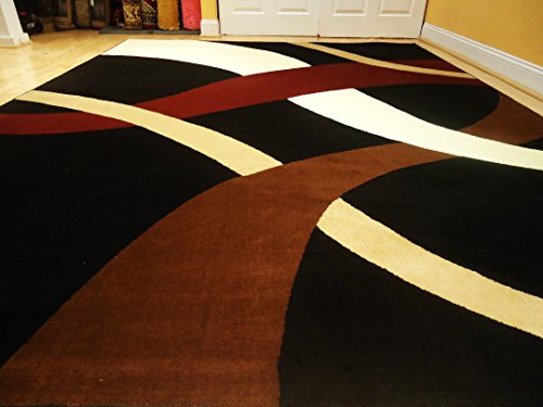 New Modern Black 8 215 11 Rug Black Wavy 8 215 10 Carpet