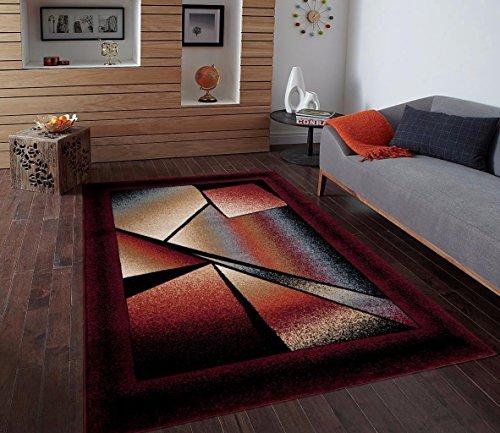 Burgundy Ivory Beige 7 10 215 10 2 Area Rug Modern Carpet