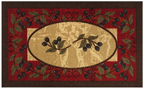 Kitchen Collection Olives Burgundy Brown Beige Multi Color