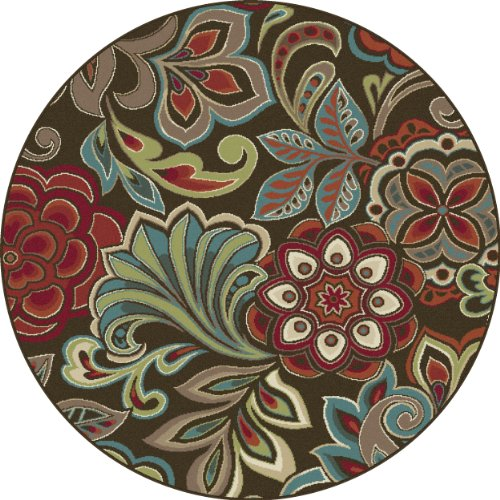 Universal Rugs 1024 Deco Round Transitional Area Rug 5