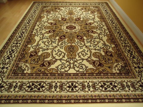 Large Ivory 8 215 11 Persian Style Rug Oriental Rug Cream Area