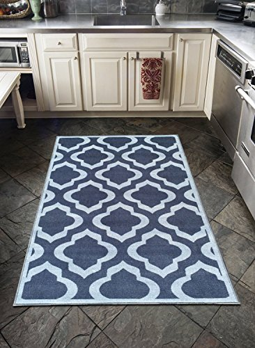 Grey Contemporary Moroccan Trellis Design 3 By 5 Modern
