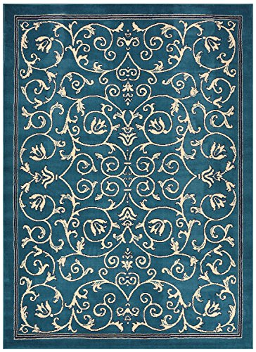 Conur Collection Floral Scroll Area Rug Rugs Modern Contemporary Traditional Area Rug