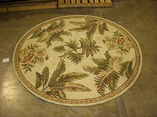 Kas Oriental Rugs Sparta Collection Tropical Oasis Round